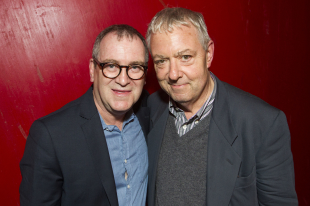 <p>Mark Hadfield (Brian/Jerry) and John Sessions</p><br />@ Dan Wooller for WhatsOnStage