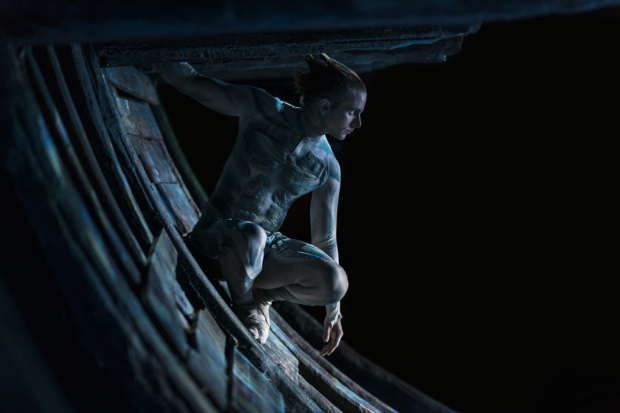 <p>Mark Quartley (Ariel) in <em>The Tempest</em></p><br />Topher McGrillis © RSC