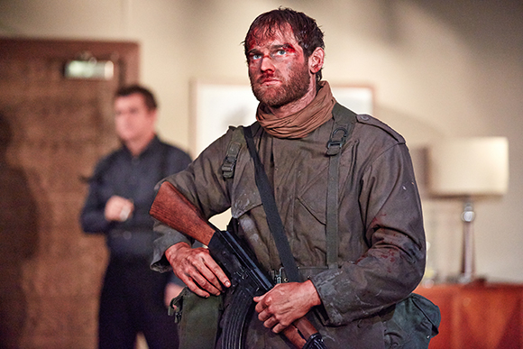 <p>Mark Stanley as Soldier in <em>Blasted</em></p><br />Mark Douet
