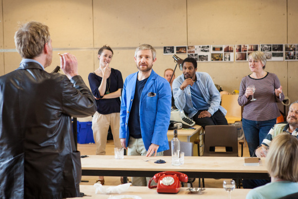 <p>Martin Freeman and cast</p><br />© Marc Brenner