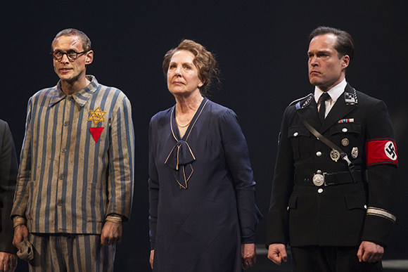 <p>Martin Hutson (Hans Litten), Penelope Wilton (Irmgard) and John Light (Dr Conrad)</p><br />Dan Wooller for WhatsOnStage