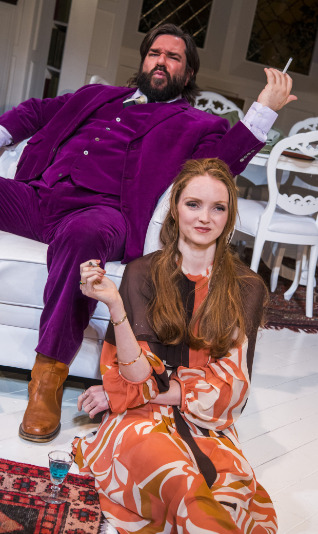 <p>Matt Berry and Lily Cole in <em>The Philanthropist</em></p><br />© Tristram Kenton