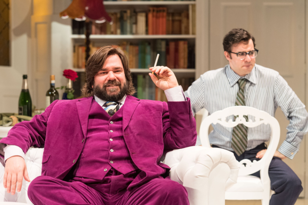 <p>Matt Berry and Simon Bird in <em>The Philanthropist</em></p><br />© Manuel Harlan