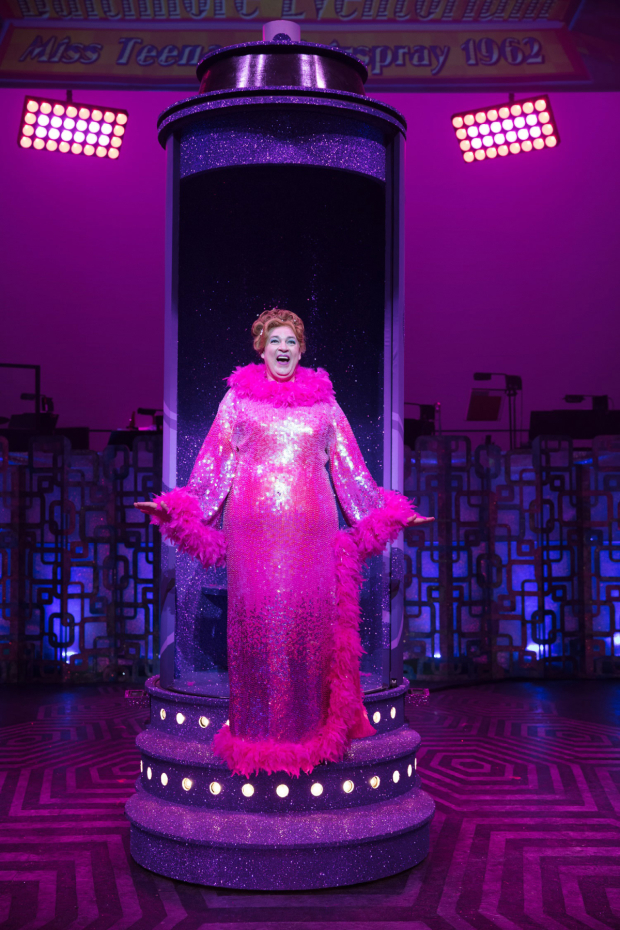 <p>Matt Rixon as Edna Turnblad in <em>Hairspray</em></p><br />© Darren Bell