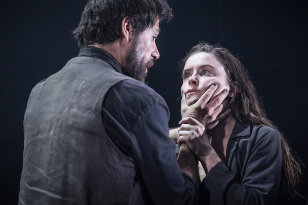 <p>Matt Ryan (Gilbert) and Judith Roddy (Young Woman) in <em>Knives in Hens</em></p><br />© Marc Brenner