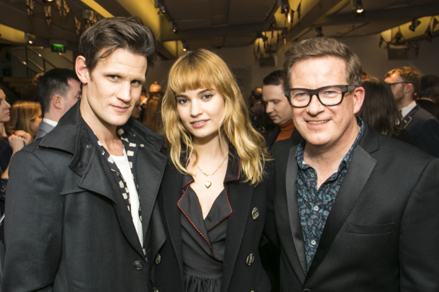 <p>Matt Smith, Lily James and Matthew Bourne</p><br />© Dan Wooller for WhatsOnStage