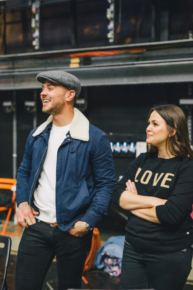 <p>Matt Willis (The Hunter) &amp&#x3B; Giovanna Fletcher (Pamela Payne)</p><br />© Derek Bremner