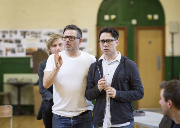 <p>Matthew Dunster (Director) and Reece Shearsmith (Syd)</p><br />© Johan Persson