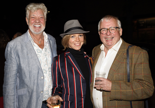 <p>Matthew Kelly, Honeysuckle Weeks and Christopher Biggins</p><br />© Simon Annand