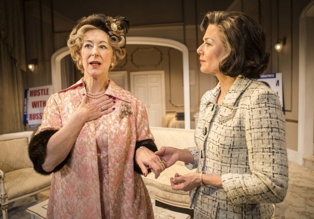 <p>Maureen Lipman (Mrs Gamadge) and Glynis Barber (Alice Russell)</p><br />© Pamela Raith