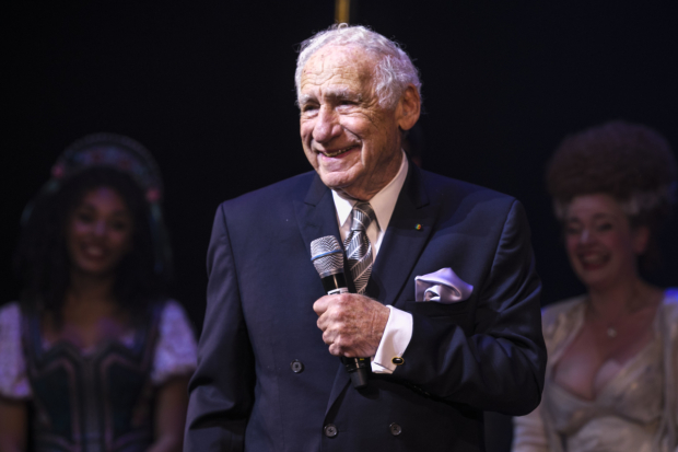 <p>Mel Brooks during curtain call</p><br />© Dan Wooller for WhatsOnStage