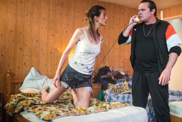 <p>Melanie Gray and Alex Ferns in <em>Out There on Fried Meat Ridge Rd.</em></p><br />© Gavin Watson