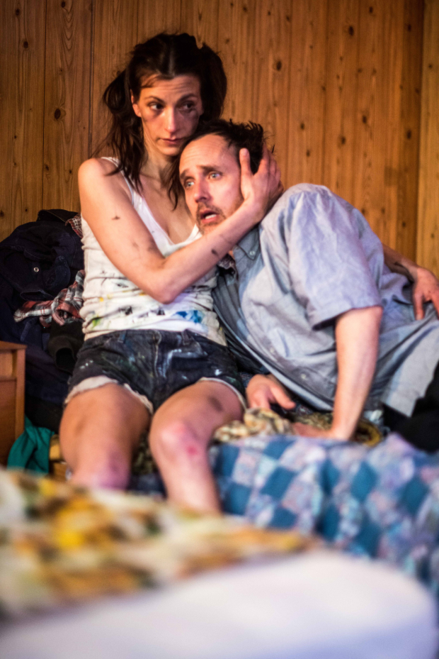 <p>Melanie Gray and Robert Molone in <em>Out There on Fried Meat Ridge Rd.</em></p><br />© Gavin Watson