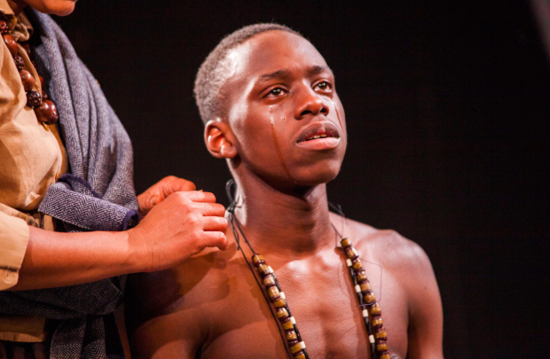 <p>Michael Ajao (Tamba) in <em>The Convert</em></p><br /> © Iona Firouzabadi
