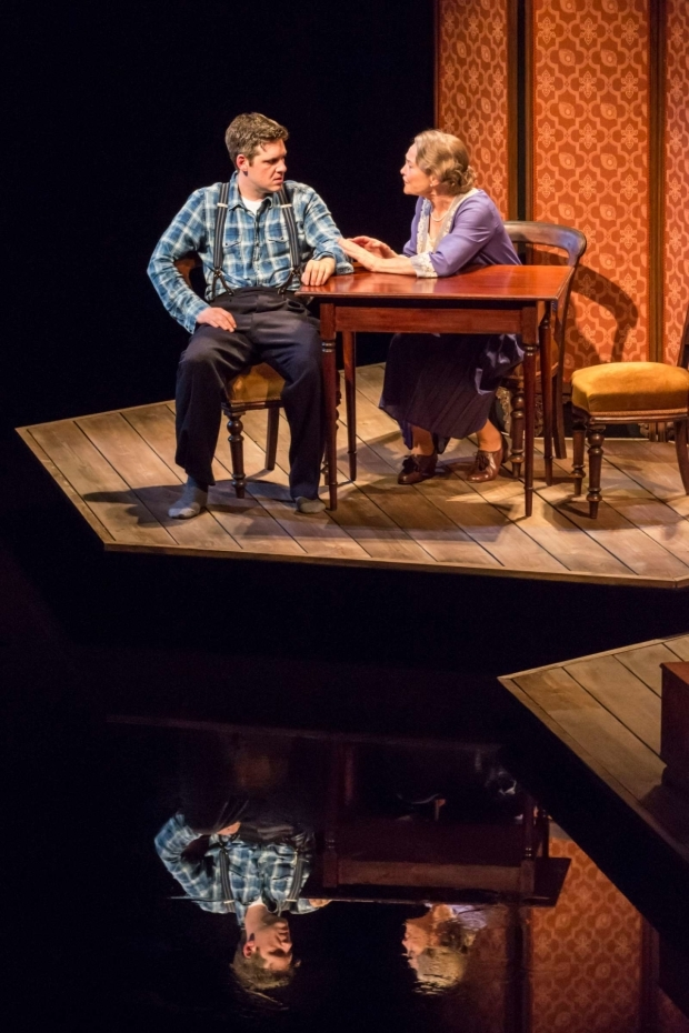 <p>Michael Esper as Tom and Cherry Jones as Amanda  in <em>The Glass Menagerie</em> </p><br />© Johan Persson