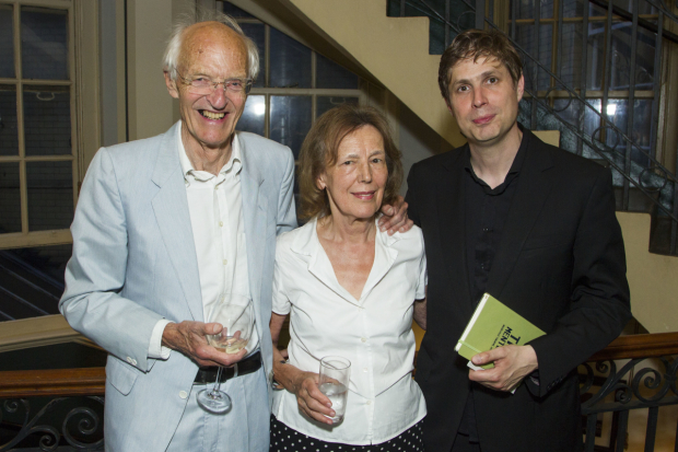 <p>Michael Frayn, Claire Tomalin and Daniel Kehlmann (author)</p><br />© Dan Wooller for WhatsOnStage