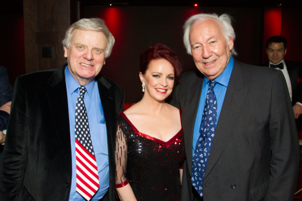 <p>Michael Grade (producer), Sheena Easton (Dorothy Brock) and Michael Linnet (producer)</p><br />© Dan Wooller