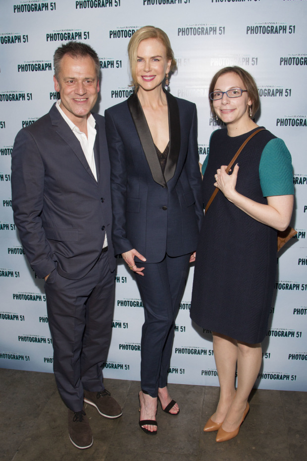 <p>Michael Grandage (Director), Nicole Kidman (Rosalind Franklin) and Anna Ziegler (Author)</p><br />© Dan Wooller for WhatsOnStage