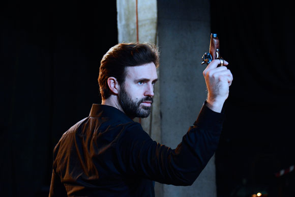 <p>Michael Xavier as John Wilkes Booth</p><br />© Nobby Clark
