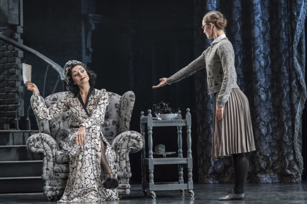 <p>Michaela Meazza as Sybil Cinderella&#39&#x3B;s Step-Mother and Ashley Shaw as Cinderella</p><br />© Johan Persson