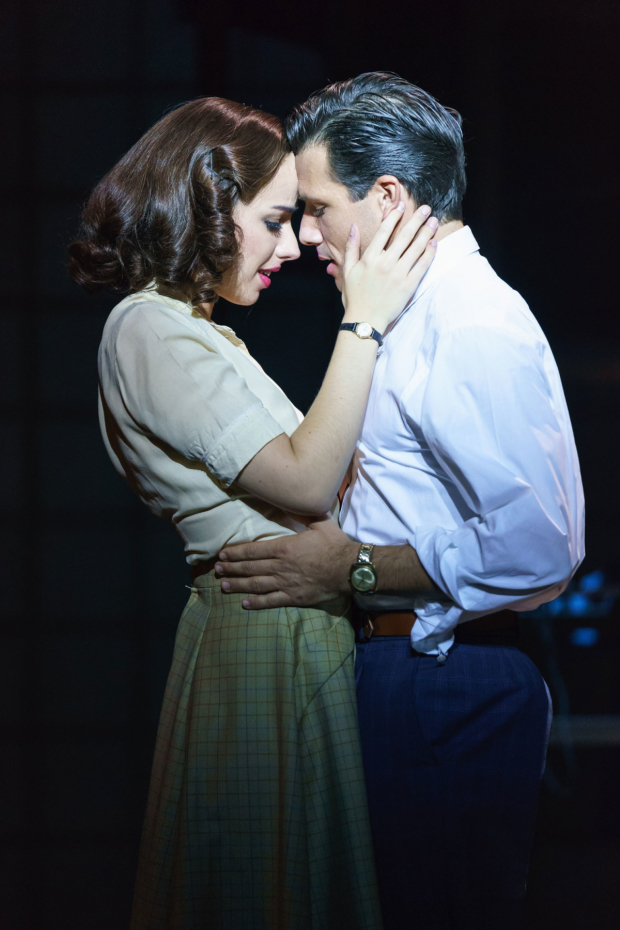 <p>Molly Lynch as Betty Schaefer and Danny Mac as Joe Gillis in <em>Sunset Boulevard</em></p><br />© Manuel Harlan
