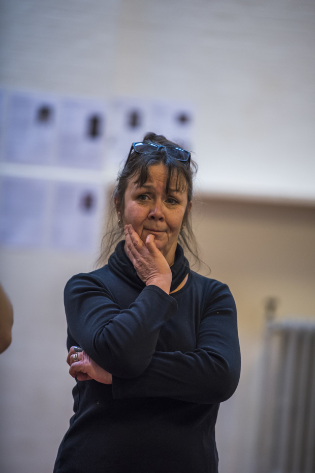 <p>Mossie Smith (Nancy) in rehearsals for <em>Nell Gwynn</em></p><br />© Tristram Kenton