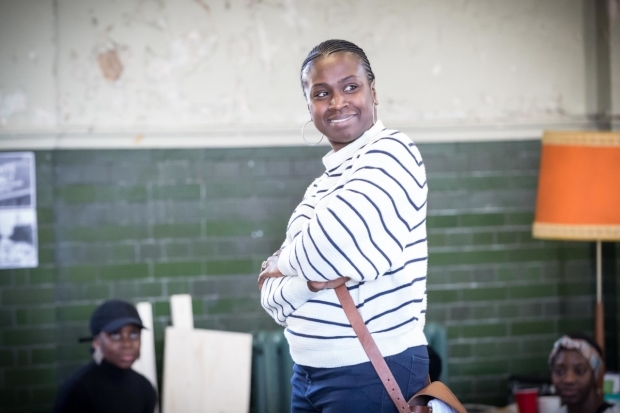 <p>Naana Agyei-Ampadu (Dotty Moffett) in rehearsal for <em>Caroline, or Change</em></p><br />© Marc Brenner