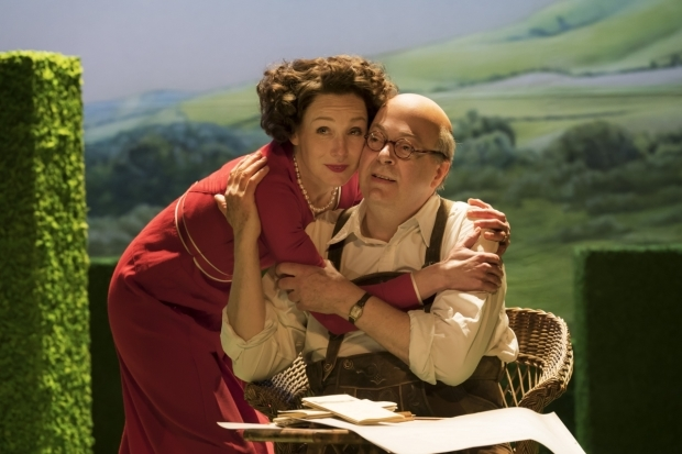 <p>Nancy Carroll and Roger Allam in <em>The Moderate Soprano</em></p><br />© Johan Persson