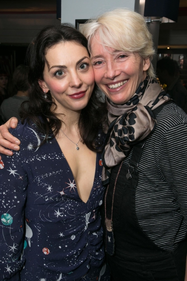 <p>Naomi Sheldon (performer/author) and Emma Thompson</p><br />© Dan Wooller for WhatsOnStage