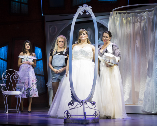 <p>Natalie Anderson, Rachael Wooding, Jodie Prenger and Sam Bailey in <em>Fat Friends</em></p><br />© Helen Maybanks