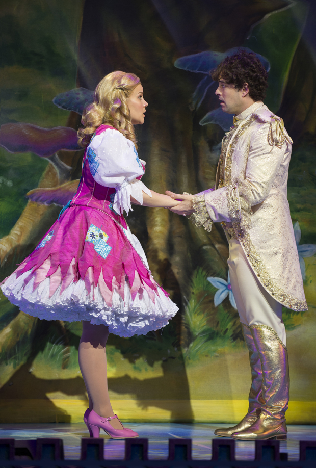 <p>Natasha J Barnes (Cinderella) and Lee Mead (Prince Charming)</p><br />© Paul Coltas & Steve Williams