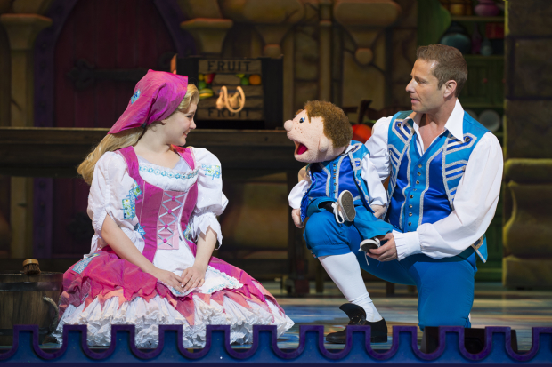<p>Natasha J Barnes (Cinderella) and Paul Zerdin (Buttons)</p><br />© Paul Coltas & Steve Williams