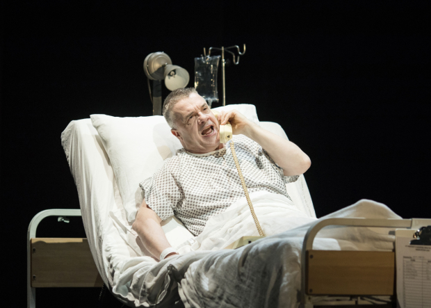 <p>Nathan Lane (Roy Cohn) in <em>Angels In America: Perestroika</em></p><br />©  Helen Maybanks