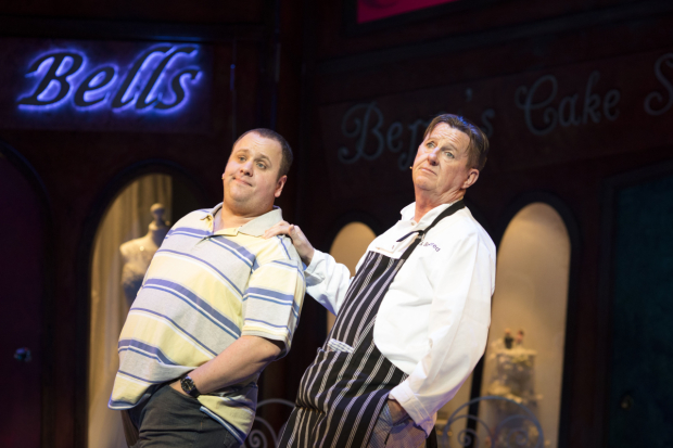 <p>Neil Hurst and Kevin Kennedy in <em>Fat Friends</em></p><br />© Helen Maybanks