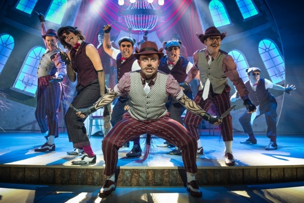 <p>Neil McDermott and the company of <em>The Wind in the Willows</em>.</p><br />© Marc Brenner/Jamie Hendry Productions