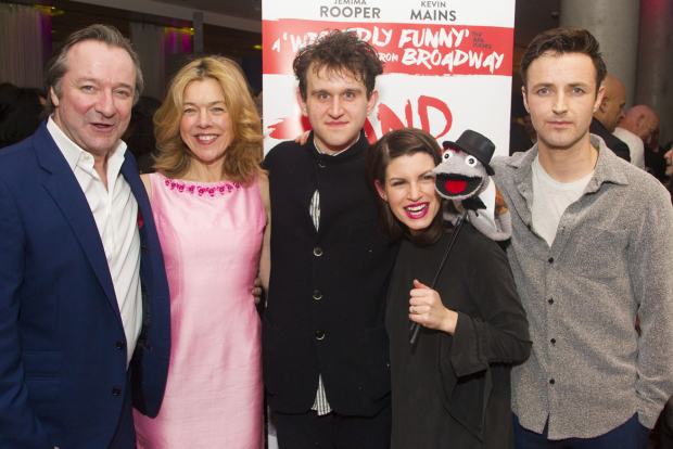 <p>Neil Pearson (Pastor Greg), Janie Dee (Margery), Harry Melling (Jason/Tyrone), Jemima Rooper (Jessica) and Kevin Mains (Timothy)</p><br />© Dan Wooller