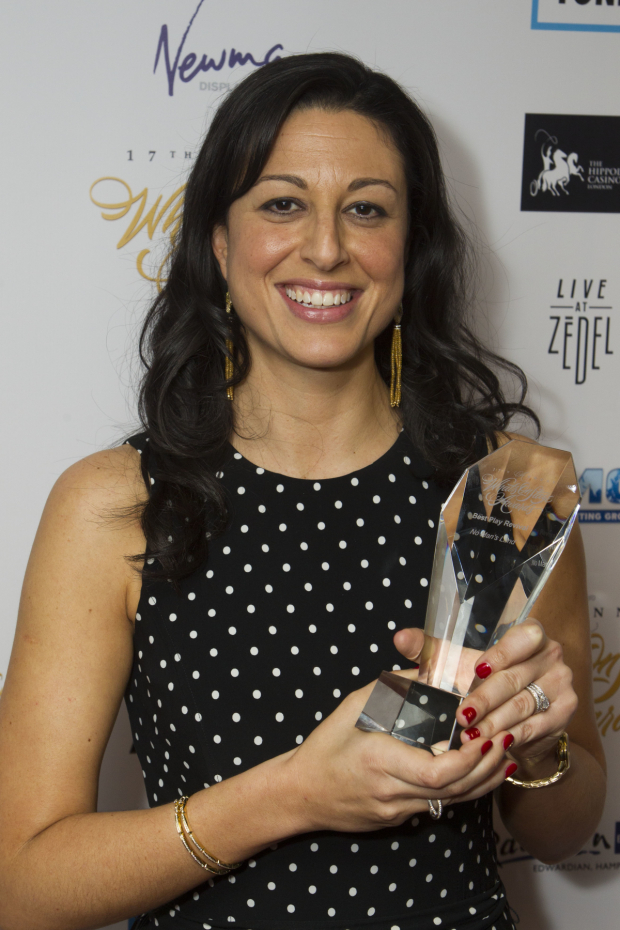 <p>Nia Janis accepts the award for Best Play Revival for <em>No Man&#39&#x3B;s Land</em></p><br />© Dan Wooller for WhatsOnStage
