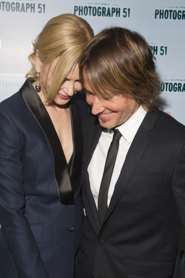 <p>Nicole Kidman (Rosalind Franklin) and Keith Urban</p><br />© Dan Wooller for WhatsOnStage
