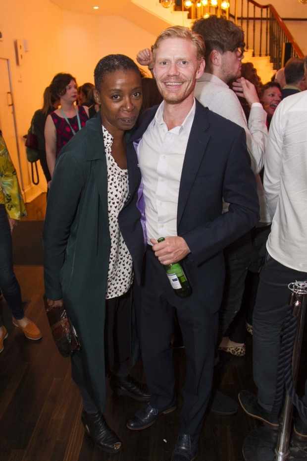 <p>Noma Dumezweni and Michael Shaeffer (Reverend Marlowe)</p><br />© Dan Wooller for WhatsOnStage