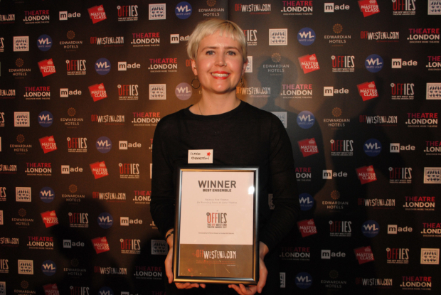 <p>Clare Robertson of Belarus Free Theatre, best ensemble </p><br />© Anthony Ofoegbu