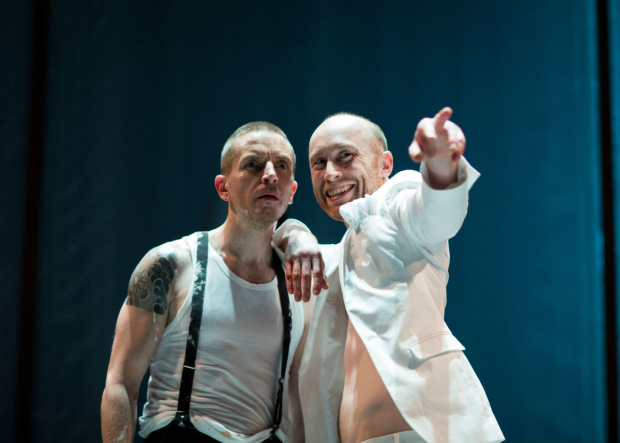 <p>Oliver Ryan, Sandy Grierson in <em>Doctor Faustus</em></p><br />© Helen Maybanks/RSC