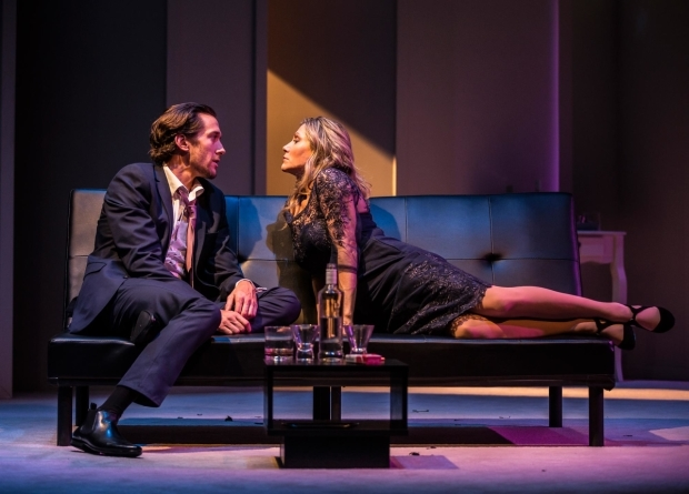 <p>Oliver Savile and Anita Louise Combe in <em>Company</em></p><br />© Pamela Raith