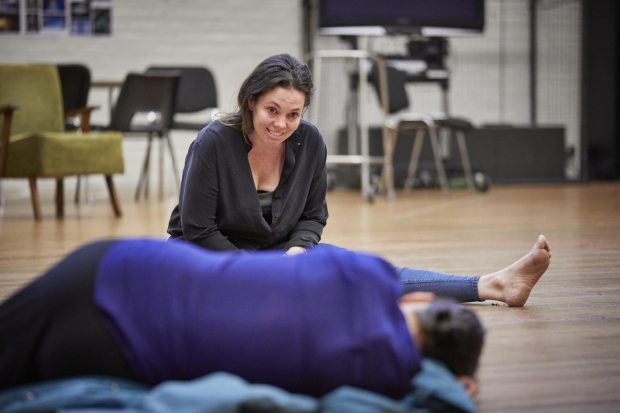 <p>Olivia Colman and Olivia Williams in rehearsals for <em>Mosquitoes</em></p><br />© Brinkhoff/Moegenburg
