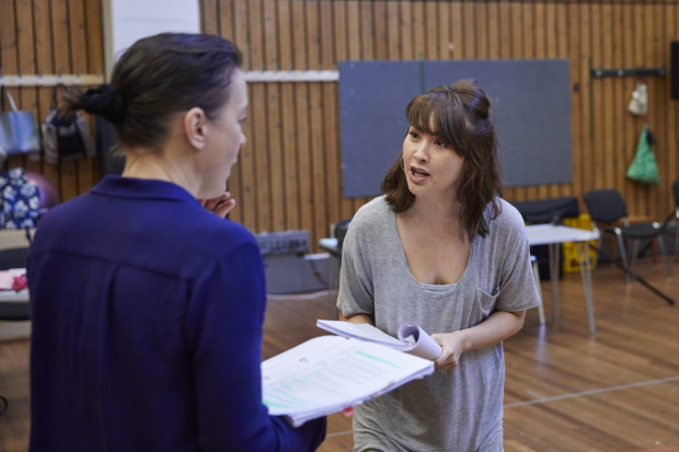 <p>Olivia Williams and Vanessa Emme in rehearsals for <em>Mosquitoes</em></p><br />© Brinkhoff/Moegenburg