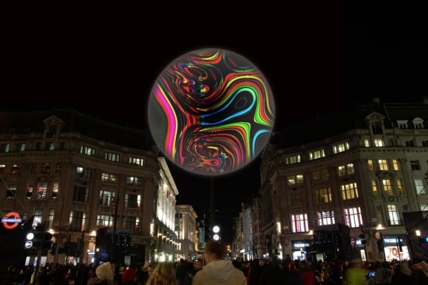 <p><em>Origin of the World Bubble</em> 2018 ​by Miguel Chevalier (France), software by Cyrille