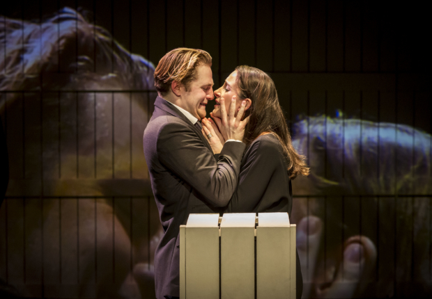 <p>Orlando James (Leontes) and Natalie Radmall-Quirke (Hermione and Dorcas)</p><br />© Johan Persson