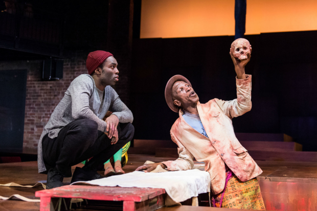<p>Paapa Essiedu and Ewart James Walters in <em>Hamlet</em></p><br />© Manuel Harlan/RSC