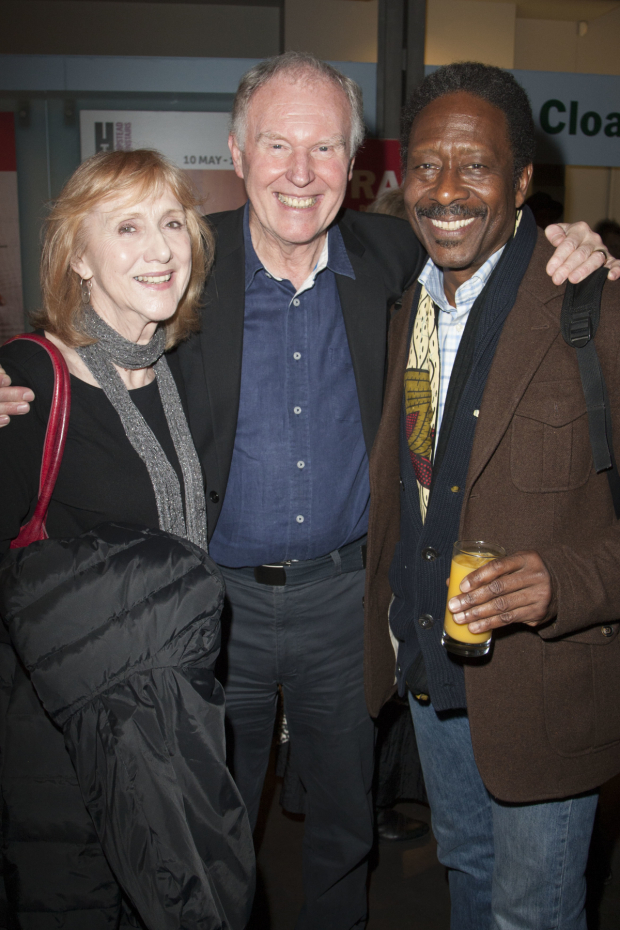<p>Pamela Miles, Tim Pigott-Smith and Clarke Peters</p><br />© Dan Wooller for WhatOnStage