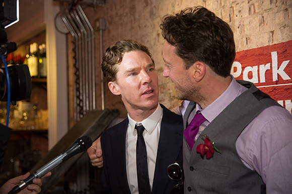 <p>Park Theatre AD Jez Bond tells Benedict Cumberbatch he prefers Watson to Holmes...</p><br />© Mark Douet