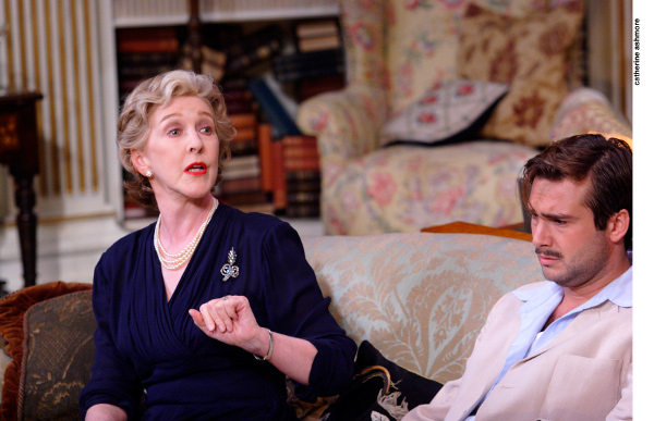 <p>Patricia Hodge and Ben Mansfield</p><br />© copyright Catherine Ashmore
